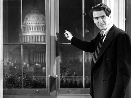 Jimmy Stewart in the 1939 film Mr. Smith Goes To Washington