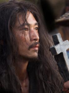 Yosuke Kubozuka as Kichijiro in Silence