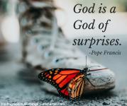 God is a God of surprises